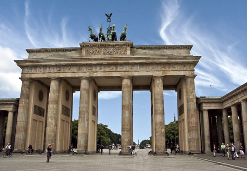 Kraftort Brandenburger Tor in Berlin