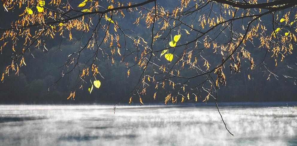 Sonniger Novembertag am See