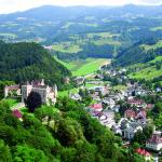 Ein Blick auf die Ortschaft Eberstein in Kärnten