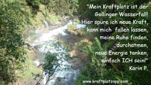 Kraftplatz Gollinger Wasserfall