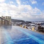 Wunderschön: Dachpool im Winter